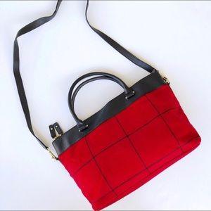 Talbots Red & Black Plaid Purse